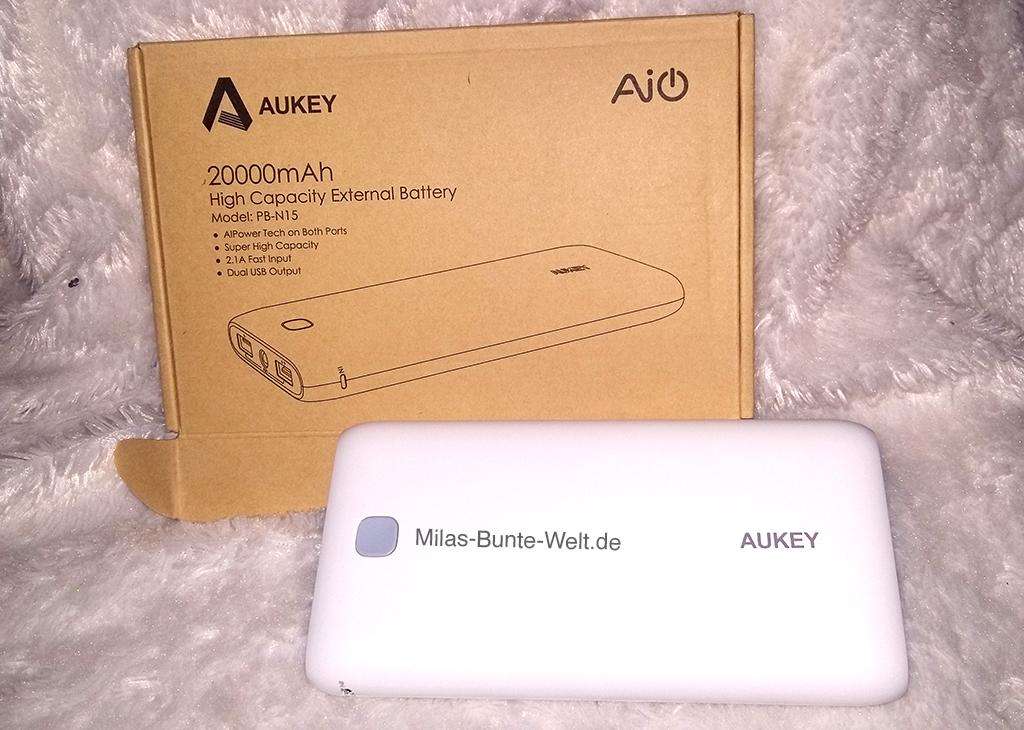 Mila testet: Aukey Powerbank 20.000mAH (sponsored post)